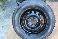 185/65/14 TOYOTA COROLLA 2002 WINTER TIRES on RIMS 4x100mm