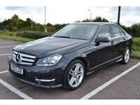 2012 62 MERCEDES-BENZ C CLASS 2.1 C220 CDI BLUEEFFICIENCY AMG SPORT 4DR 168 BHP