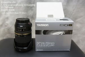 6 month old Tamron SP AF 24-70mm f/2.8 Di VC USD Lens for Canon