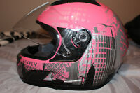 Pink Japanese Style Motorcycle Street Bike Full Face Helmet