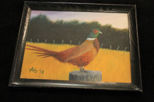 hand painted pheasant pic