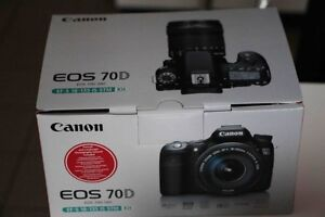 BRAND NEW CANON EOS 70D WITH 18-135mm KIT LENS SEALED IN THE BOX