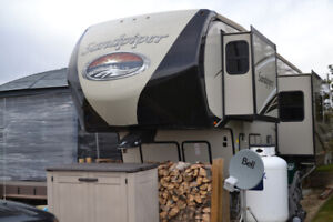 2016 Sandpiper 381 RBOK 5th wheel and lot for at Trestle Creek