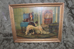 Old Antique Picture of Dogs London Ontario image 1