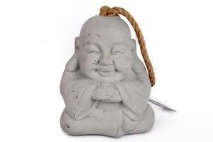 Grey Oriental Buddha Stone Effect Rustic Rope Carry Handle Door Stop stopper
