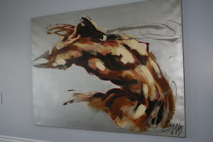 Corno - Silver Radiation - Painting by famous artist Corno 44x60