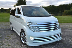 FRESH IMPORT 52 PLATE NISSAN ELGRAND RIDER V6 AUTO PEARL TWIN SUNROOF CURTAINS
