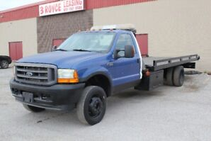 2003 FORD F-550 FLATBED TOW TRUCK