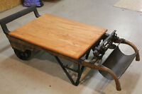Early Canadian Grain Scale Coffee Table