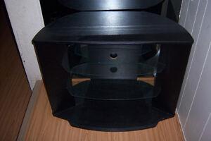 "Black TV stand  / 35"" x 25'"