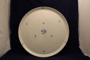 Vintage HEREND Hungarian Floral Large Round Serving Tray 14""