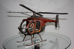 Decorative helicopter - hughes 500