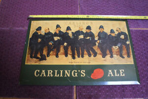1950'S VINTAGE CARLING'S TIN ALE SIGN