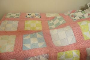 Twin size hand made quilt