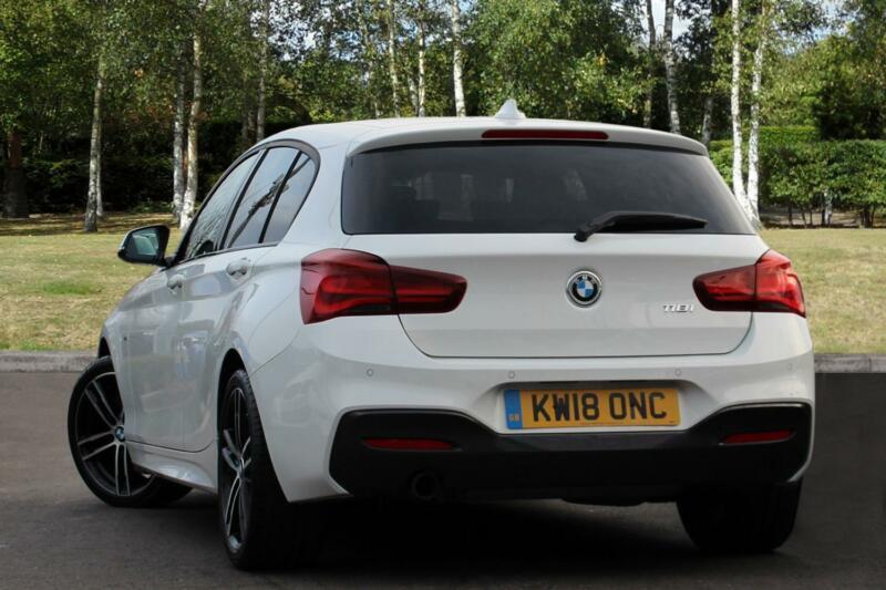 2018 bmw 1 series 118i m sport shadow edition 5-door petrol white