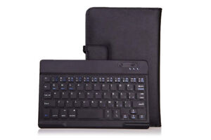 Folding Leather Protective Case wth Removable Bluetooth Keyboard