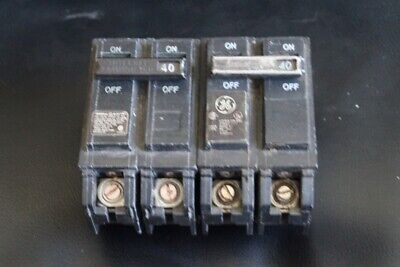 Lot Of 2 Ge Thql2140 Circuit Breakers 2 Pole 40 Amp 2p 40a 120240v