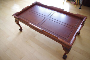 """Hand-carved Real Mahogany Chippendale Coffee Table 48"""""""