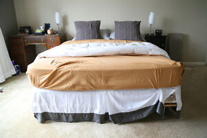 Great Deal! Queen Bed for Sale: Mattress, Box Spring, Frame
