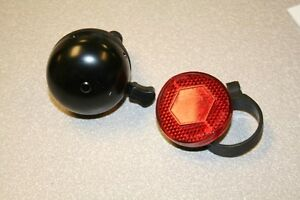 Be Seen and be Heard! NEW Bicycle Metal bell and reflector