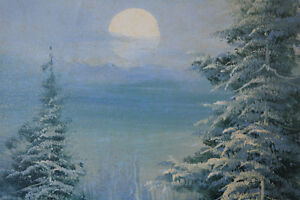 "WINTER SCENE OIL ON CANVAS PAINTING 22"" X 26"" SIGNED Gatineau Ottawa / Gatineau Area image 4"