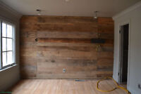 FEATURE WALL WITH LAMINATE FLOORING KICK-ASS