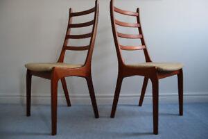 Kai Kristiansen Danish Teak Dining Chairs