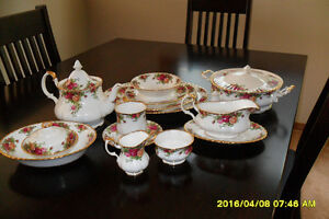Old Country Rose china set