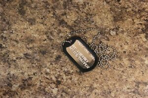 SDCC-Promo-Dog-Tag-Necklace-TRENCHES-Sealed-Movie-DVD-Horror-Sci-Fi-Action-new