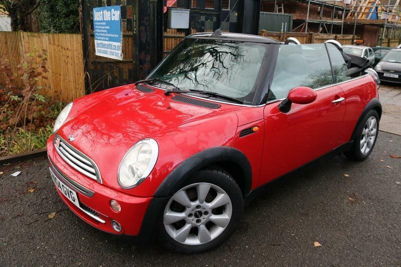 Mini Cooper 1.6 Convertible Red Heated Leather Seats Rear Parking Sensors Long M