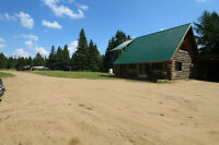 62 acres, log home home/cottage  + CLASS B GRAVEL LICENCE