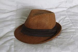Brown Woven Fedora