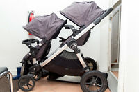 Baby Jogger City Select Stroller - 2 Seats + 2 Trays (Titanium)