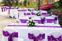 Party decor rental,table,table cloth,chair,chair cover rent