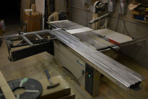 "10' Sliding Table Saw, 14"" Saw Blade, Scoring Blade"