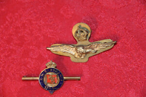 1st World War Crown and Flight Wings Air Force  Lapel Pins