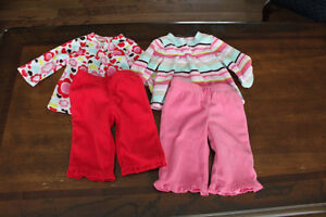 Jumping beans girls outfits size 3-6 months