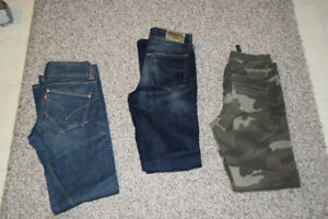 Women's pants size 38 and 40. Levi's, Diesel and Zara