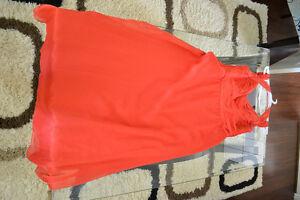 Sunset Orange Floor Length Dress Kitchener / Waterloo Kitchener Area image 2