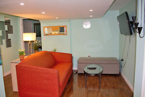 2 Bedrooms Furnished Bsmnt Apartment--Hurantario and Sandalwood