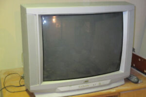 27 inch Color JVC TV with remote. Silver color