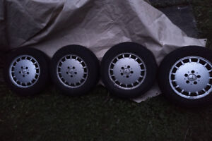 Mercedes Goodyear Snow Tires with Rims