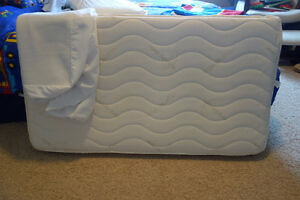 Crib mattress and mattress protector