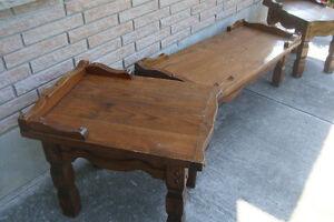 Coffee Table and Two End Tables For Sale
