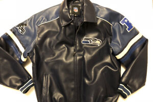 Seattle SeaHawks Faux Leather Jacket
