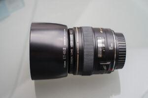 Canon EF 85mm f/1.8 USM 85mm Lens with OEM lens hood