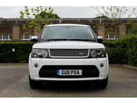 2011 Land Rover Range Rover Sport 3.0TD V6 AUTO Autobiography, WHITE,RED LEATHER