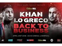 KHAN VS LO GRECO (BACK TO BUSINESS)