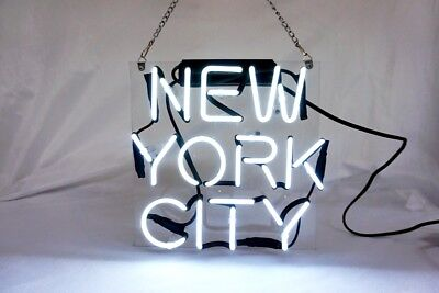 'NEW YORK CITY' Custom Slogan Neon Sign Bistro Game Room Party Wall Decor - Party City Neon