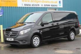 2017 MERCEDES VITO 111 1.6 CDI 114 BHP LONG LWB DIESEL 6 SPEED MANUAL VAN, AIR C